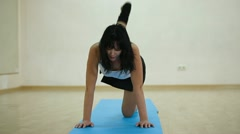 Fitness exercise Stock Footage