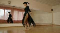 Dancer practiced in contemporary dance Stock Footage