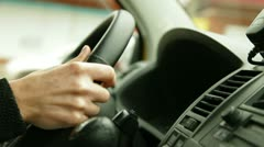 Behind The Wheel Stock Footage