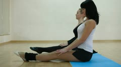 Dancers stretching Stock Footage