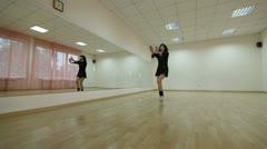 Contemporary dance class Stock Footage