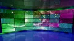 Sparkles on screens in virtual studio background loop Stock Footage
