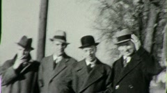 Businessmen Industrialists Standing Together 1930s Vintage Film Home Movie 1845 - stock footage
