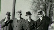 Stock Video Footage of Businessmen Industrialists Standing Together 1930s Vintage Film Home Movie 1845