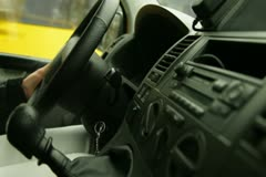 Female Driving Stock Footage