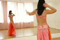 Belly Dancer Practicing Stock Footage