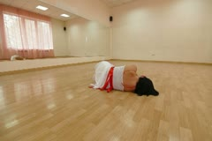 Dancer  practiced in Dance Studio Stock Footage