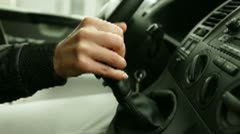 Shifting gearshift Stock Footage