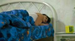 woman sleeping - stock footage