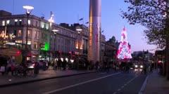 Dublin at Christmas 1 Stock Footage