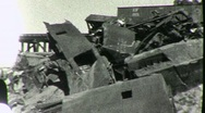 Stock Video Footage of TERRIBLE TRAIN WRECK Boxcars on Bridge 1930s (Vintage Film Home Movie) 1858