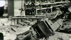 RAILROAD CRASH TRAIN WRECK Boxcars Bridge 1930s (Vintage Film Home Movie) 1862 Stock Footage