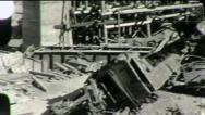 Stock Video Footage of RAILROAD CRASH TRAIN WRECK Boxcars Bridge 1930s (Vintage Film Home Movie) 1862