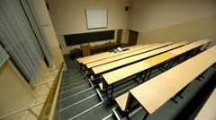 Empty lecture auditorium - stock footage