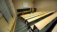 Empty lecture auditorium Stock Footage