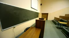 Empty lecture theater Stock Footage