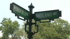 Corner street signs Stock Footage
