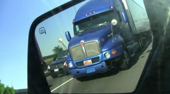 Left side view mirror 1b Stock Footage