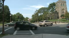Traffic at intersection Stock Footage