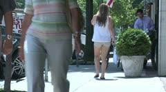 People walking down sidewalk (1 of 4) Stock Footage