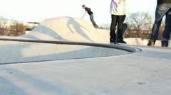 Skateboard Tailslide Stock Footage