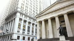 Federal Hall Wall Street NYC Stock Footage