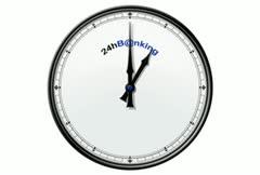 Clock: 24hBanking Stock Footage