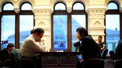 Boris Gelfand 2741 and Shahrijar Mamedjarov 2763 play Stock Footage