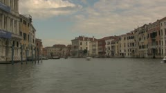 Venice Canal from Water Taxi Stock Footage