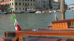 Water Taxi in Venice Italy Stock Footage