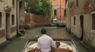 View from Water Taxi in Venice Italy Stock Footage