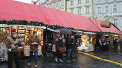 Christmas market Stock Footage