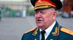 Ivan A. Sluhay chairman of Moscow Committee of War Veterans Stock Footage