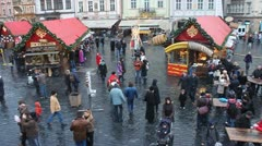 Christmas market - stock footage