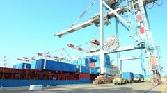 Sea port 01 Stock Footage