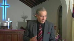 Evangelical Fundamentalist Preacher Preaching 2 Stock Footage
