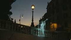 Christmas Angel lights in Rome (4) - stock footage