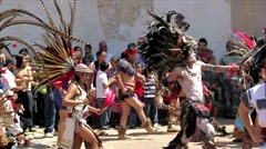 Precolombian dance Stock Footage