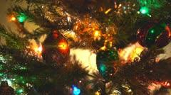 Christmas tree decorations Stock Footage