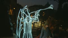 Christmas Angel lights in Rome (6) - stock footage