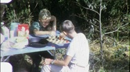 Stock Video Footage of Boys Play Checkers Board Game Circa 1962 (Vintage Film Home Movie) 1887