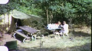 Family Vacation Car Camping Camp Site 1960s Vintage Film Home Movie 1886 Stock Footage