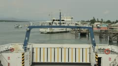 Ferry Embarks in Costa Rica Stock Footage