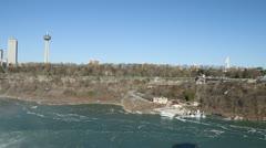 Niagara Falls rainbow pan 002 1080p 24fps-video Stock Footage
