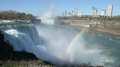 Niagara Falls double rainbow 001 1080p 24fps-video Stock Footage