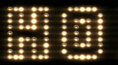 Hollywood Light Up Sign Stock Footage