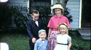 American Kids Brothers Sisters Sunday Best 1960s Vintage Film Home Movie 1890 Stock Footage