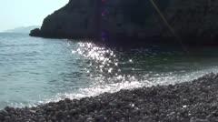 Pebble beach Stock Footage