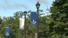 Western Connecticut University signs Stock Footage