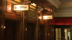 Box offices of small theater Stock Footage